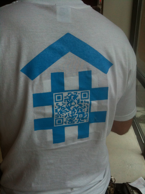 DeveloperTown shirt with # house on the back